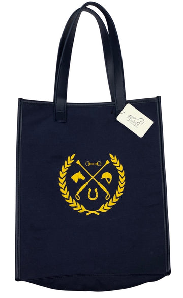 Livy Rose Equestrian Crest Tote Bag in Navy - One Size