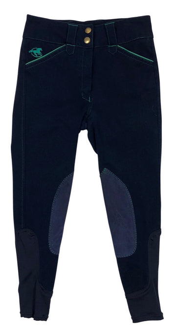 SmartPak Piper Breeches in Navy/Green - Children's 8