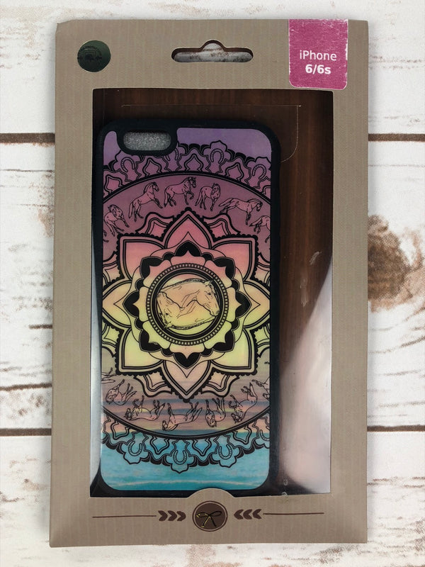 Spiced Equestrian Bumper iPhone Case in Mandala Sunrise - iPhone 6/6s