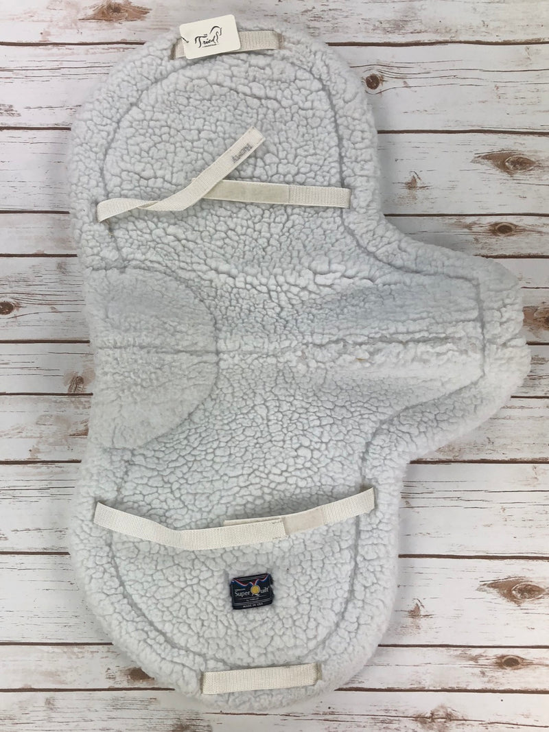 "Toklat Medallion SuperQuilt Saddle Pad in White - 20.5"" Spine"