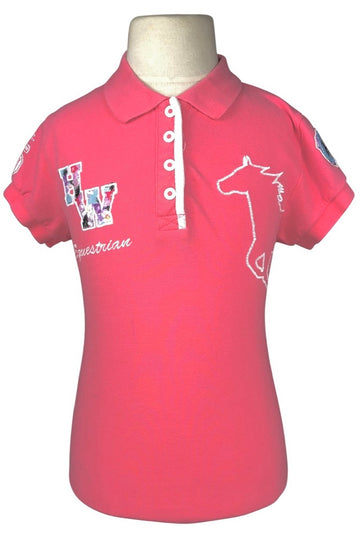 Horseware Pique Polo Shirt in Pink - Children's 10 | M