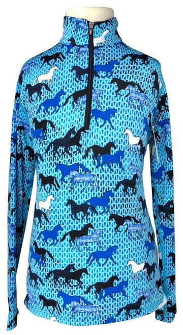 Kerrits Ice Fil Long Sleeve Shirt in Blue - Children's S