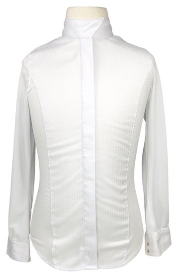 Ariat Triumph Long Sleeve Show Shirt in White - Children's M