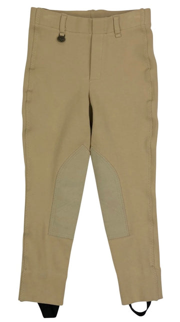 On Course Pull On Jodhpurs in Tan - Children's 6 | S