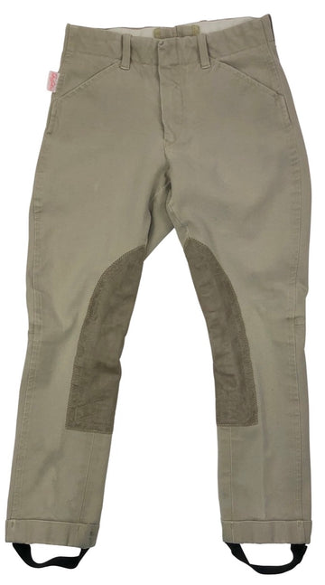 Tailored Sportsman TS Front Zip Jods in Tan  - Children's 6 | S