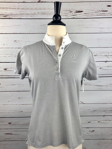 Pikeur Crystal Competition Shirt in Grey - Women's Ger 38 | S