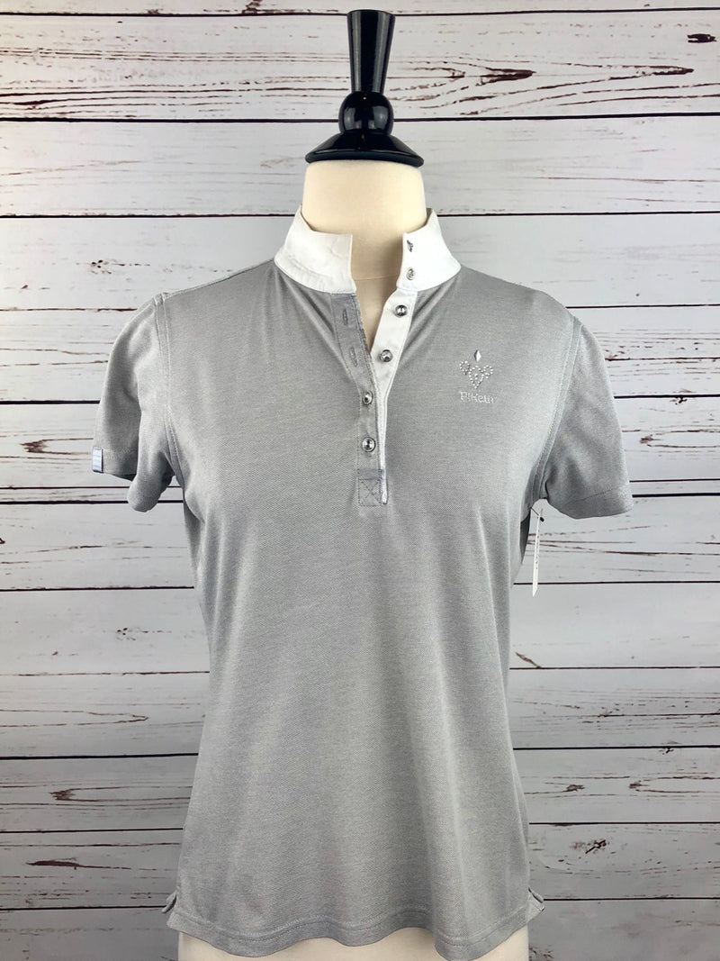 Pikeur Crystal Competition Shirt in Grey - Women's Ger 38/US 6