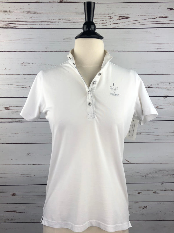 Pikeur Crystal Competition Shirt in White - Women's Ger 36/US 4