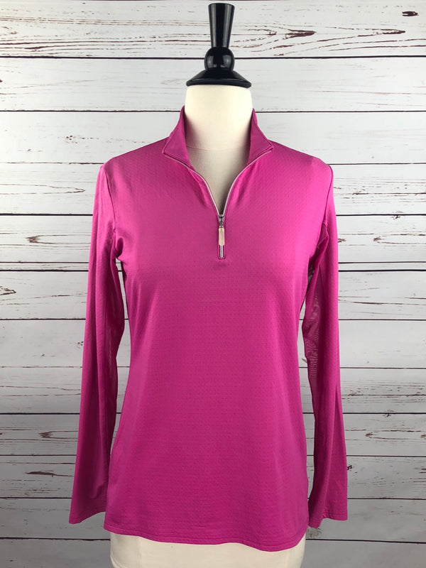 Bette and Court Cool Elements Mock Neck Shirt in Hot Pink - Women's Small