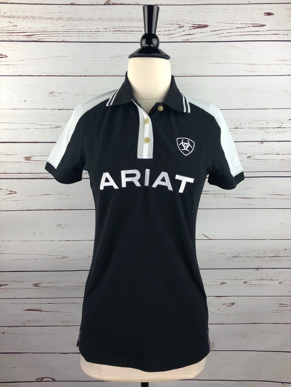 Ariat New Team Polo in Black - Women's Small