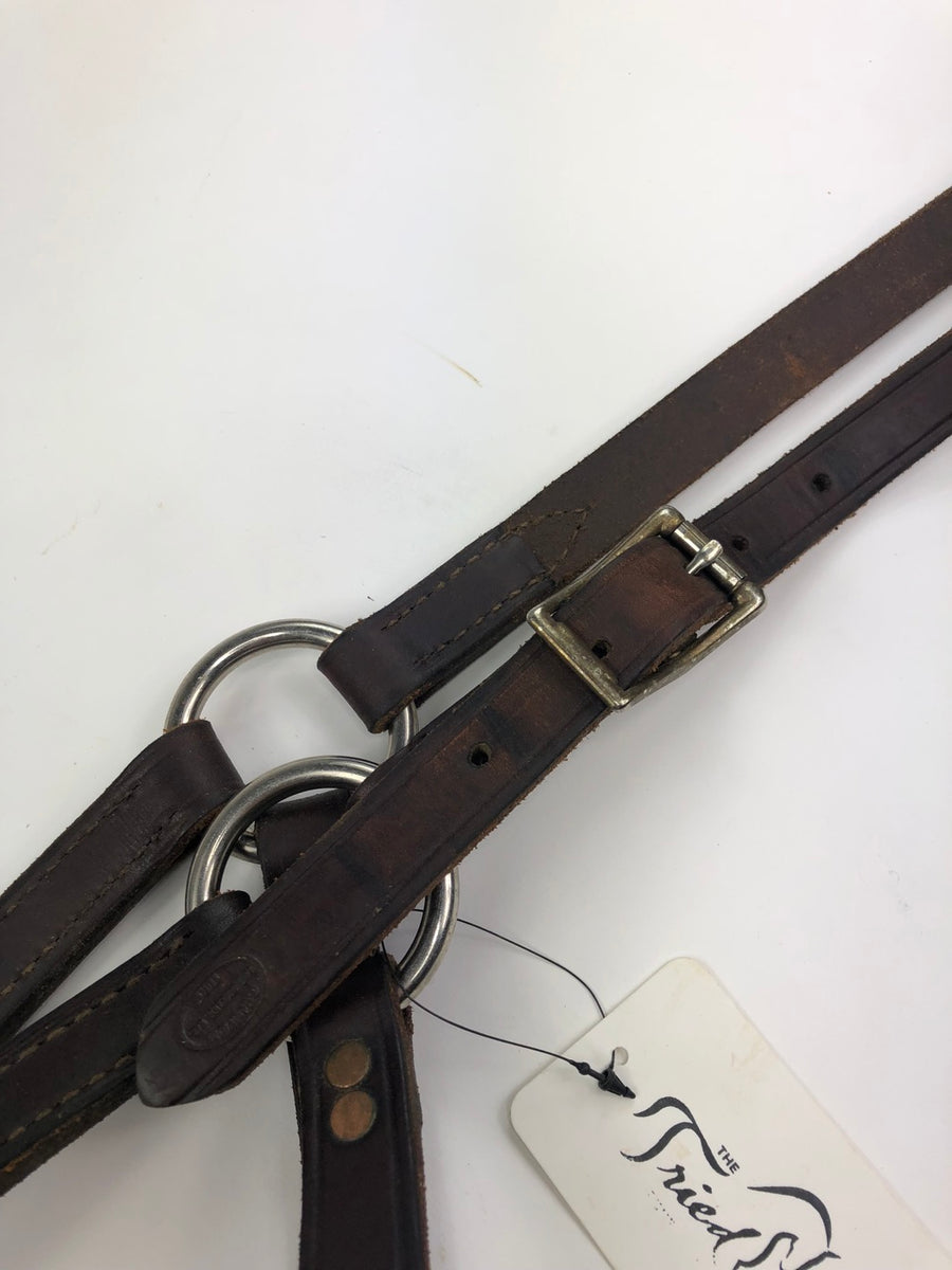 Champion Turf Leather Halter in Brown - Close Up View