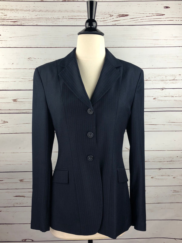 Wellington Collection Hunt Coat in Navy Stripe - Women's 10R (US 4)