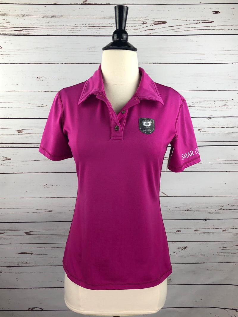 Asmar Equestrian Polo Shirt in Hot Pink - Approx. Women's Small