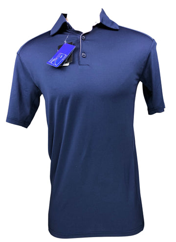 EIS Short Sleeve Polo Shirt in Navy/Light Pink - Men's S