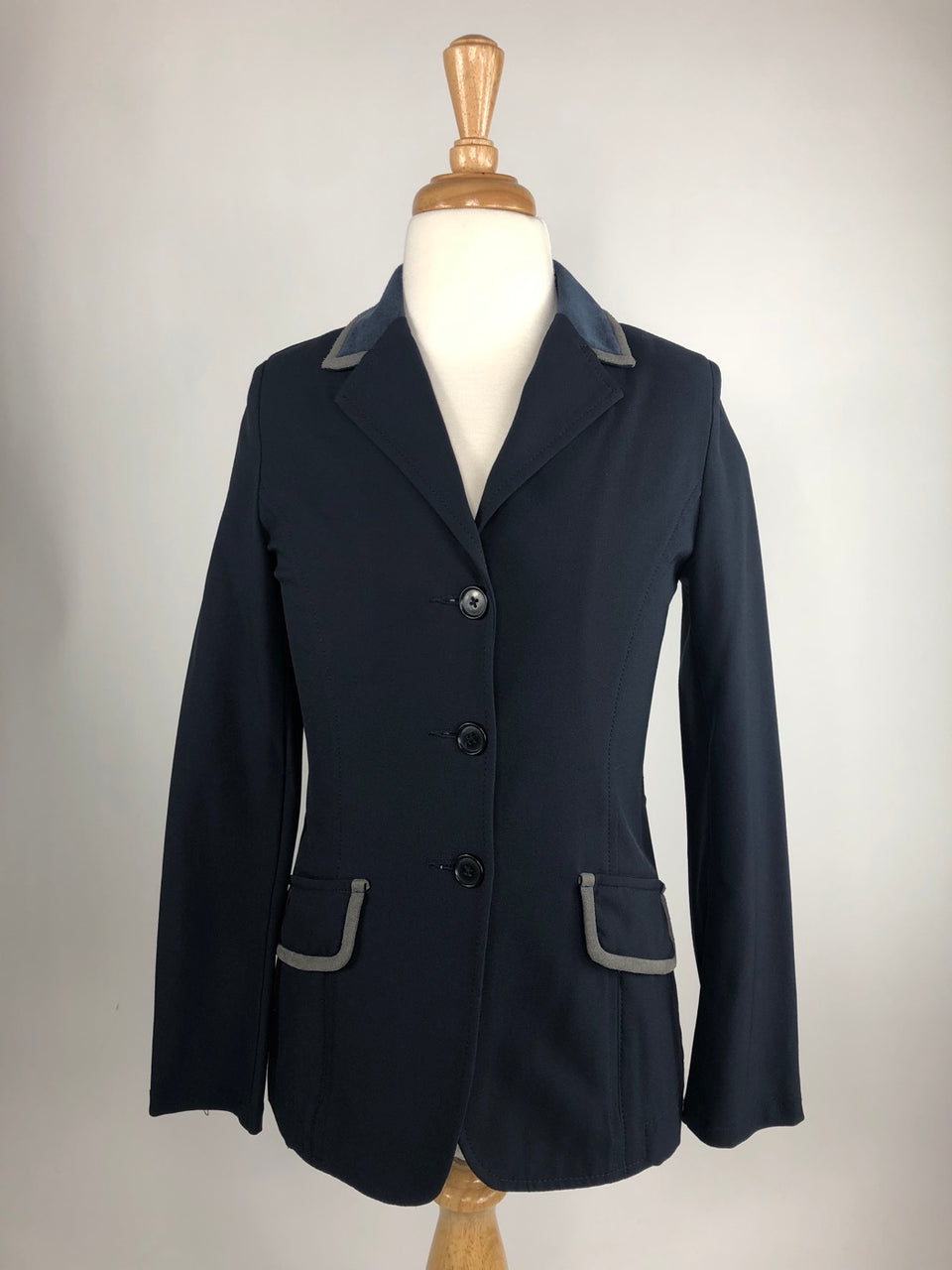 Charles Ancona Show Jacket in Navy w/Charcoal Trim - Children's 12 | M