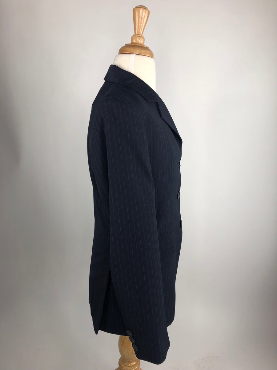 RJ Classics Essentials Collection Hunt Coat in Navy Pinstripe -  Right Side View