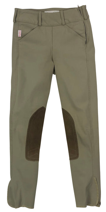 Tailored Sportsman Trophy Hunter Side Zip Breeches in Tan - Children's 10R | M