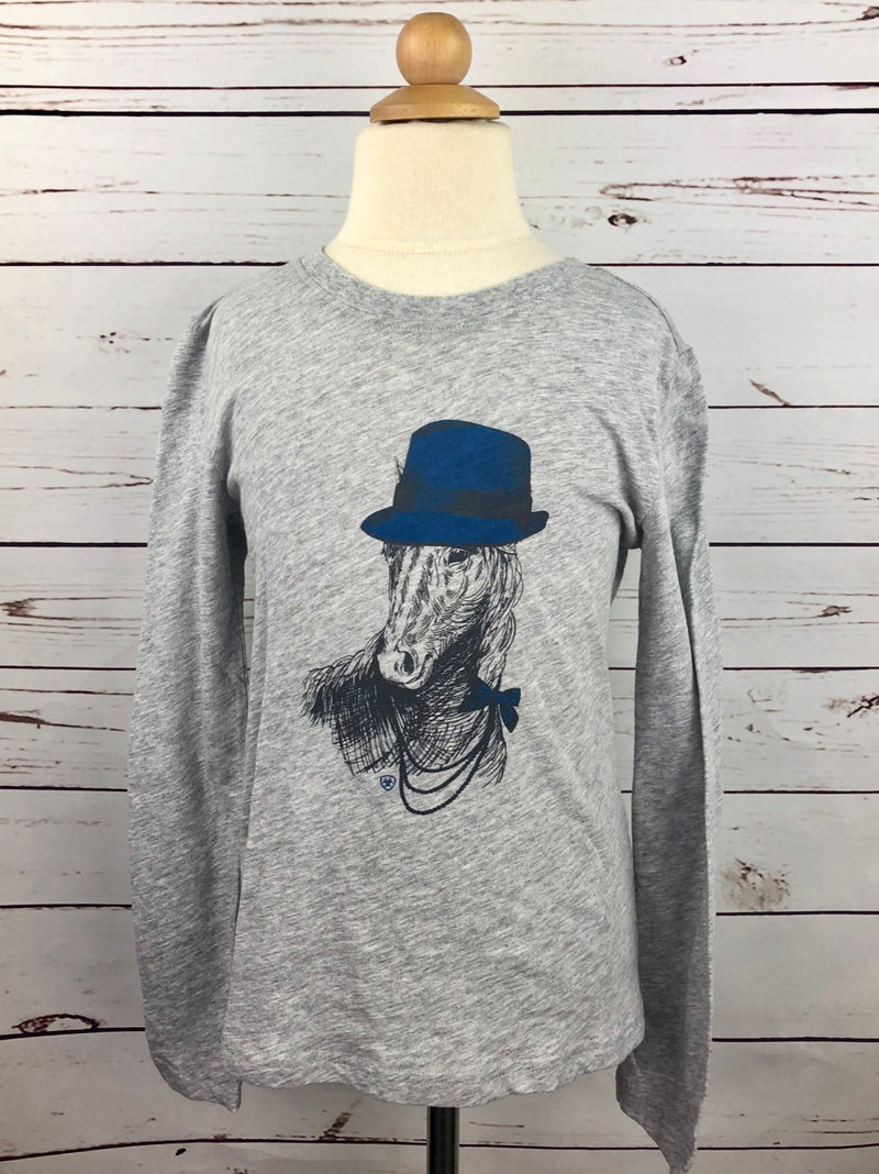 Ariat Gracious Graphic Tee in Heather Grey - Girls XS