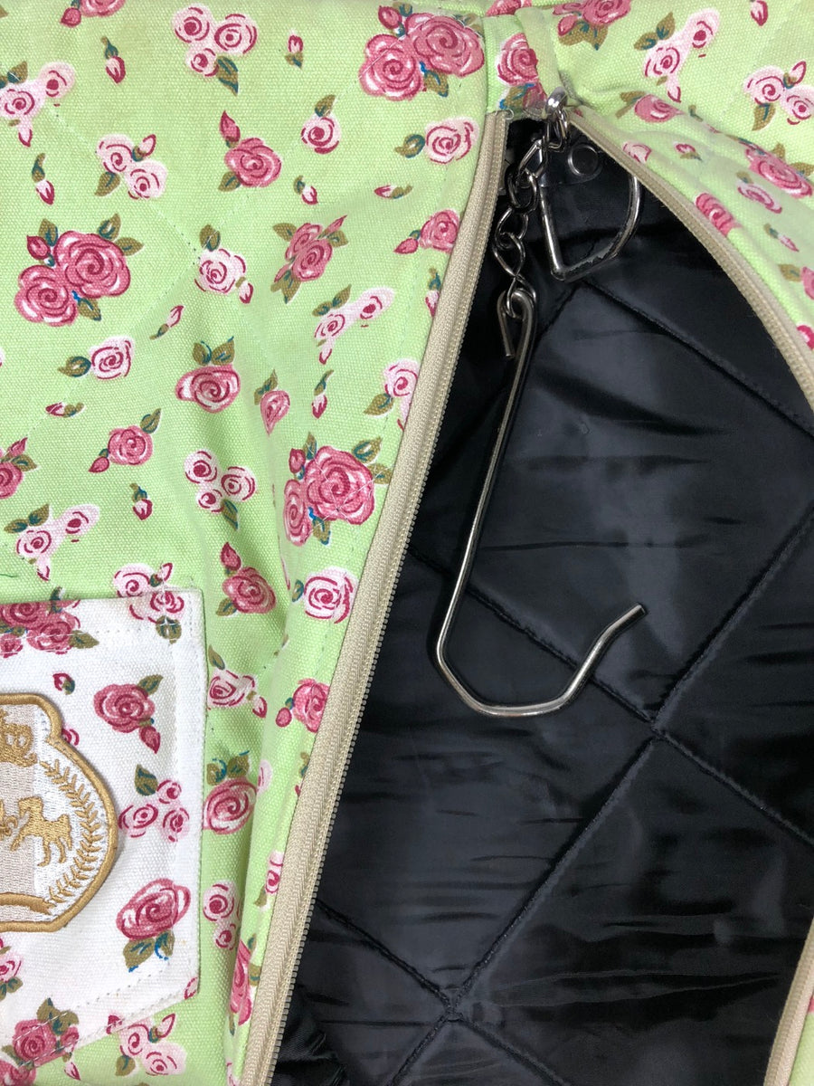 Equine Couture Bindia Garment Bag in Jade -  Inside View