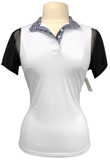 Le Fash Paulo Alto Short Sleeve Show Shirt in White/Black - Women's M