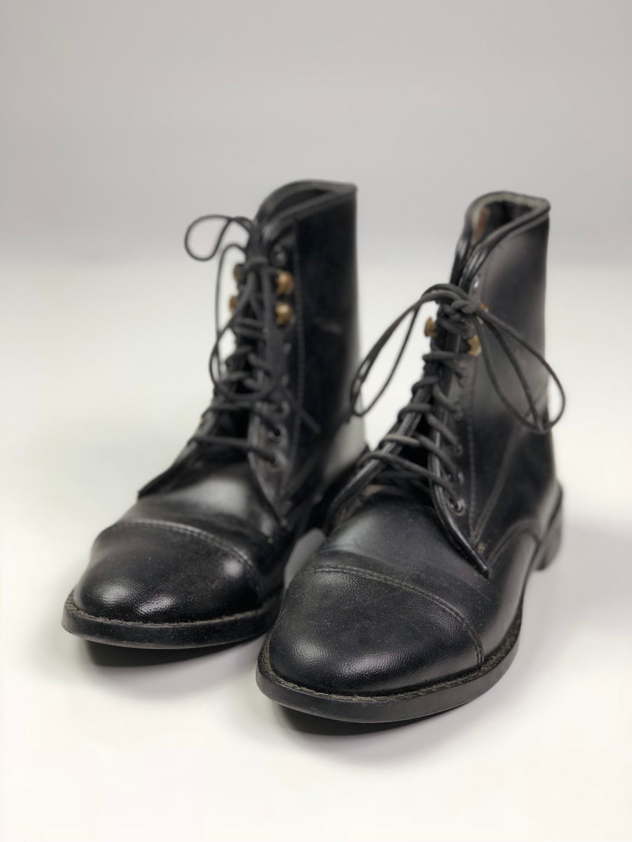 Equistar Paddock Boots in Black - Front View