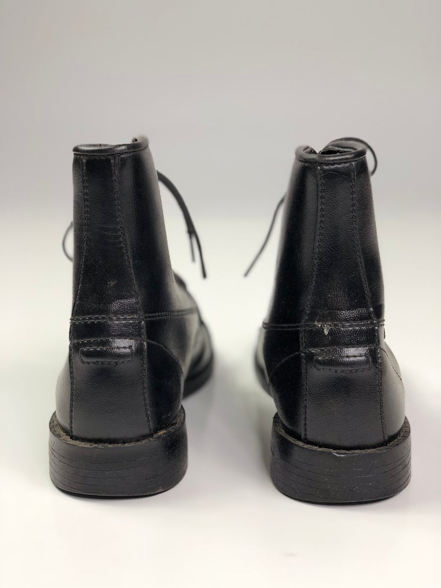 Equistar Paddock Boots in Black -  Back View