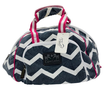 Equine Couture Ashley Helmet Bag in Grey/White Chevron  - One Size
