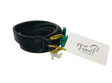 NWT Tory Leather Keepsake ID Belt in Black - 30