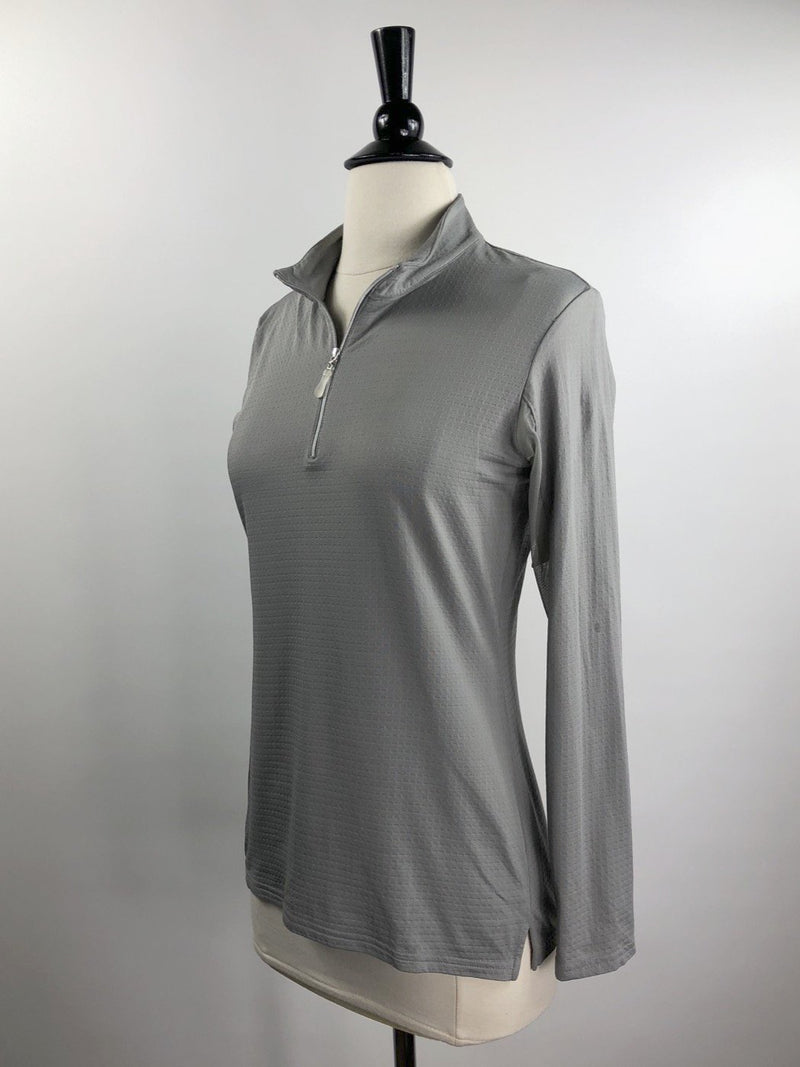Bette and Court Cool Elements Mock Neck Shirt in Feather Gray - Women's Small