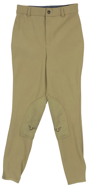 TuffRider Low Rise Ribb Breeches in Tan - Children's 14 | L