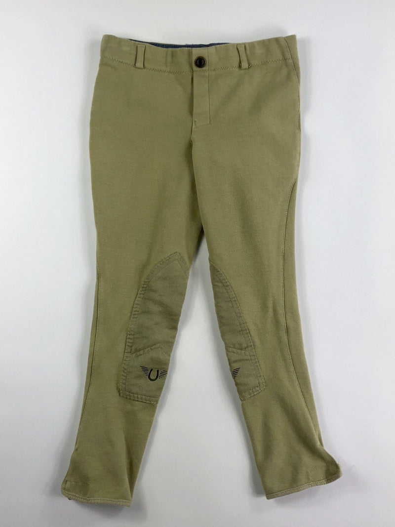 TuffRider Cotton Low Rise Pull On Breeches in Lt. Tan - Children's 12