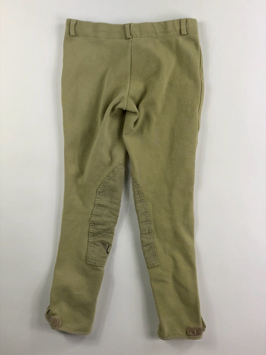 TuffRider Cotton Low Rise Pull On Breeches in Lt. Tan - Children's 12 | M