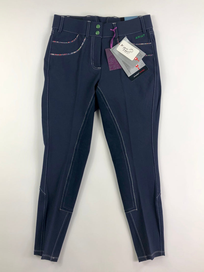 Ariat Olympia Acclaim Full Seat  Breeches in Navy Liberty - Women's 26R