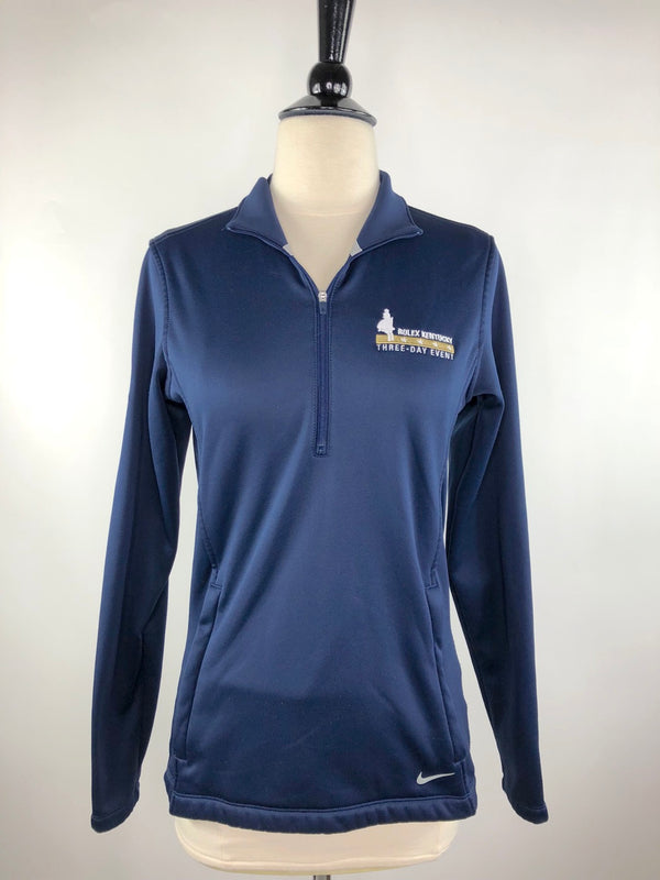 Rolex Kentucky 3 Day Event 1/4 Zip Pullover in Navy - Women's Small