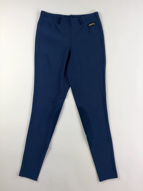 Kerrits Microcord Knee Patch Breeches in Blue - Children's XL
