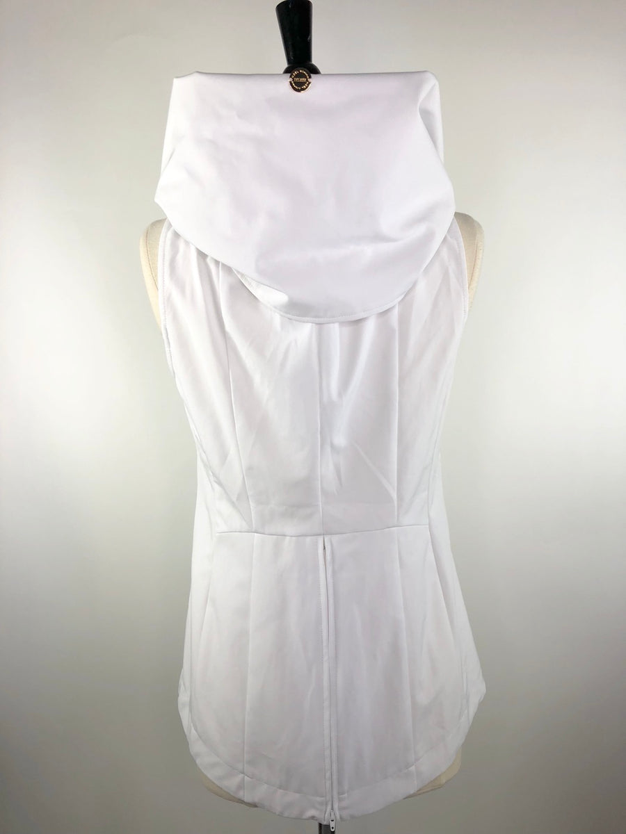Noel Asmar City Vest in White -  Back View