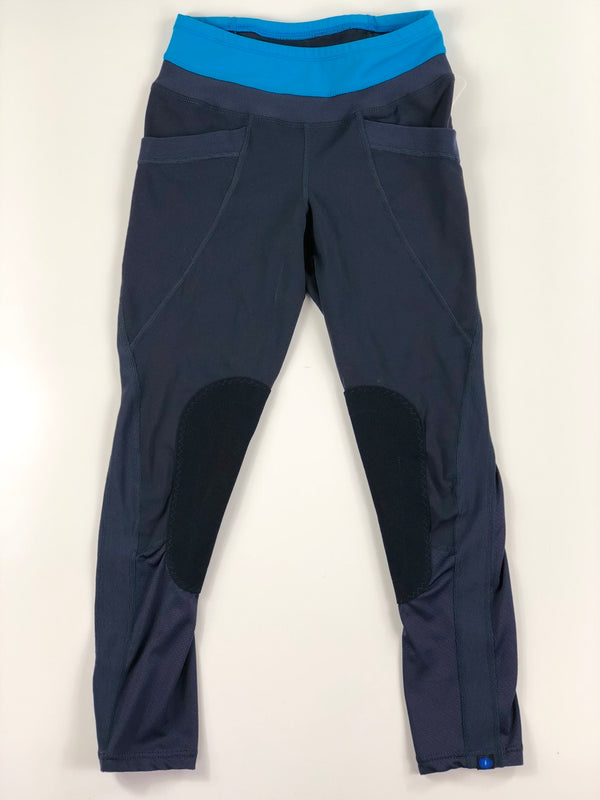 Irideon Synergy Riding Tights in Navy/Aqua - Women's Small