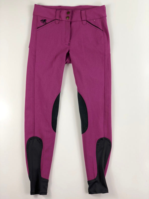 SmartPak Piper Knee Patch Breeches in Orchid/Black Smoke - Women's 26R