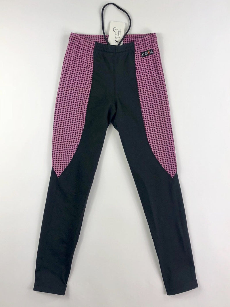 Kerrits Performance Riding Tight in Pink Houndstooth - Approx. Children's Large