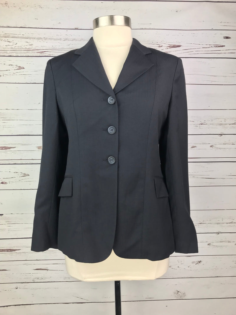 Elite Hunt Coat in Navy Herringbone - Women's 14S (US 8S)