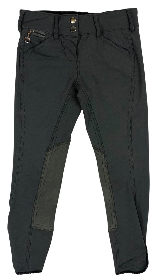 Goode Rider Pro Breeches in Graphite - Children's 8 | S