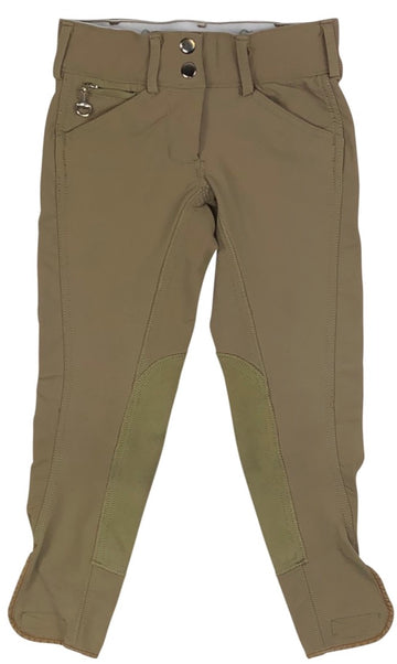 Goode Rider Pro Breeches in Khaki - Children's 8 | S