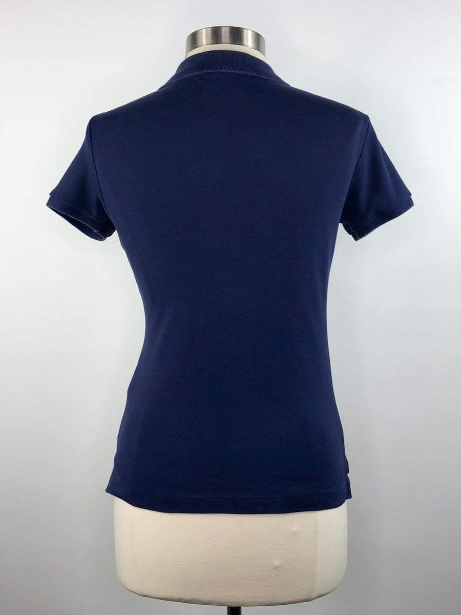 Ralph Lauren Sport Slim Fit Polo in Navy -  Back View