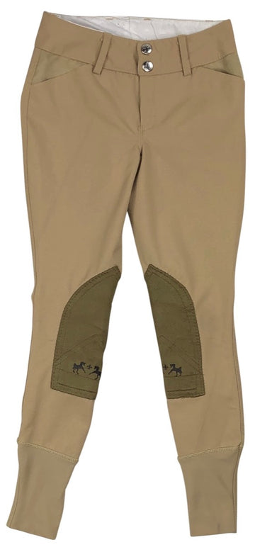 Equine Couture Coolmax Champion Breeches in Safari/Taupe - Children's 8 | S