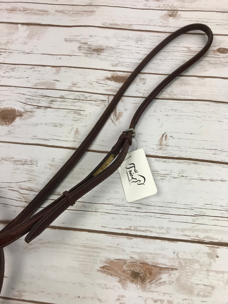 Edgewood Fancy Stitch Standing Martingale in Oiled Newmarket - Pony Size