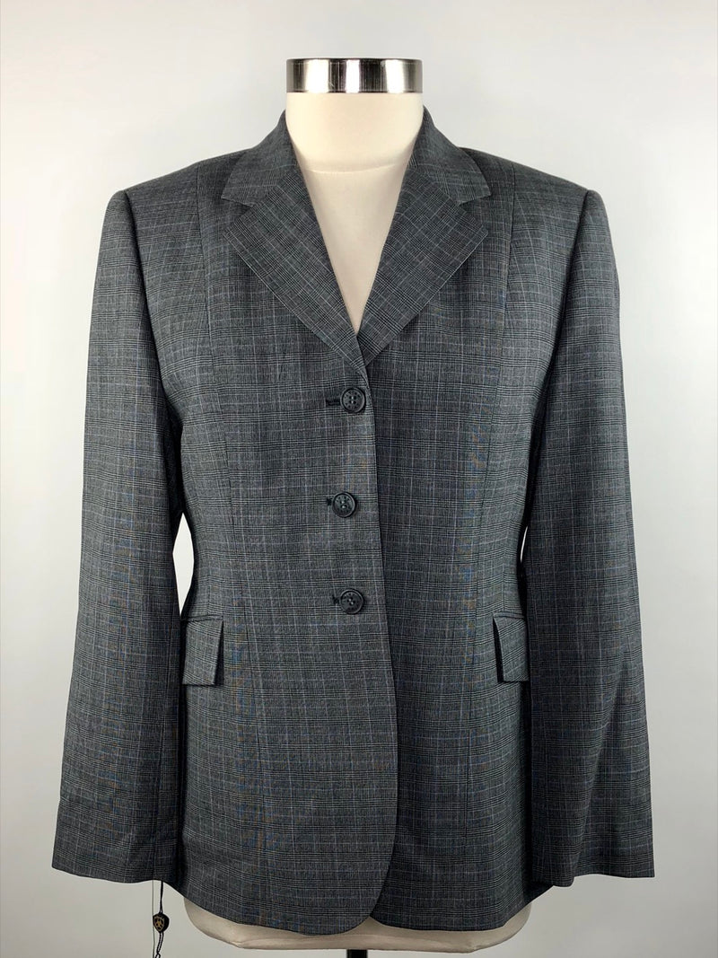 Ariat Trophy Hunt Coat in Gray Glen Plaid - Women's US 16R