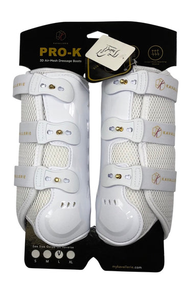 Kavallerie Pro-K Horse Dressage Boots in White - Horse Large