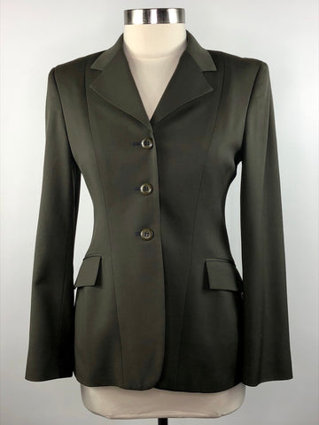 Grand Prix Hunt Coat in Olive - Front View