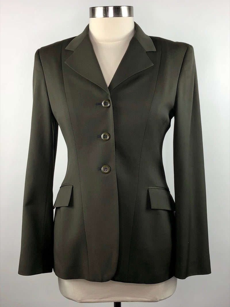 Grand Prix Hunt Coat in Olive - Women's 12R (US 6)