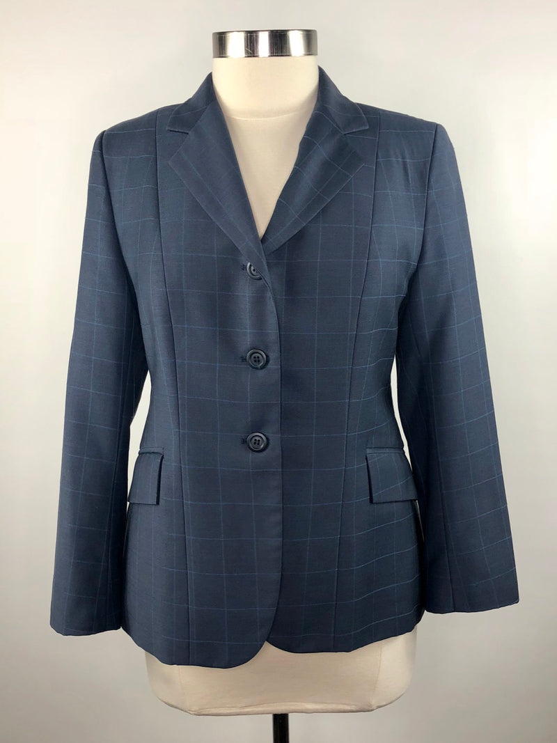 Elite Hunt Coat in Blue/Grey Check - Women's 14S (US 8S)
